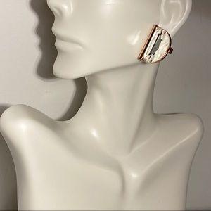 Semicircle Sparkle Earrings